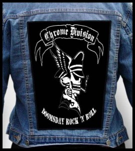 CHROME DIVISION - Doomsday Rock 'n Roll -- Backpatch