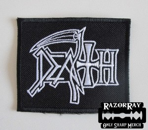 DEATH [white] -- Embroidered Patch