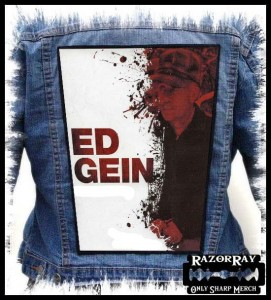 ED GEIN - White -- Backpatch