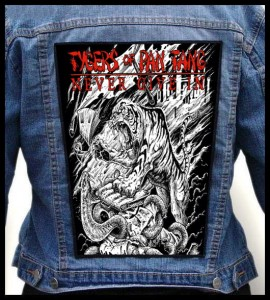 TYGERS OF PAN TANG - Never Give In -- Backpatch