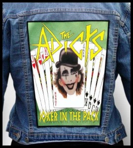 THE ADICTS - Joker In The Pack -- Backpatch