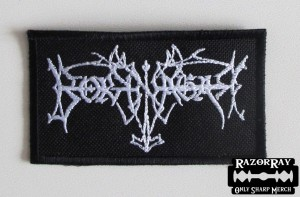 BORKNAGAR [white] -- Embroidered Patch