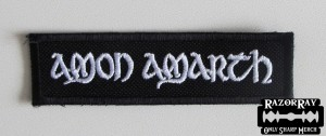 AMON AMARTH [white] -- Embroidered Patch