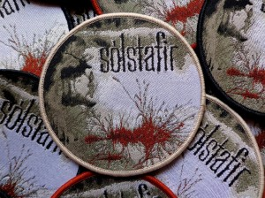 SOLSTAFIR - BERDREYMINN [cream border] -- Woven Patch