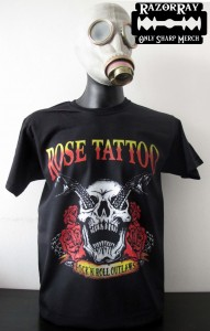 T-shirt ROSE TATTOO - Rock'n'roll Outlaw