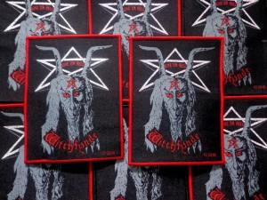 WITCHFYNDE - Give 'Em Hell [red border] -- Woven Patch