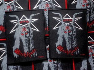 WITCHFYNDE - Give 'Em Hell [black border] -- Woven Patch