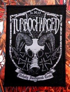 TURBOCHARGED - UNHOLY DEATHPUNK -- Woven Patch