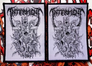 INTERMENT - CRUCIFIXION [white] -- Woven Patch
