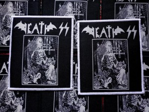 DEATH SS - EVIL METAL [white border] -- Woven Patch