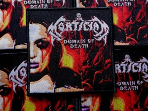 MORTICIAN - DOMAIN OF DEATH [black border] -- Woven Patch