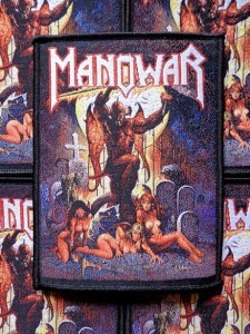 MANOWAR - HELL ON EARTH [black border] -- Woven Patch