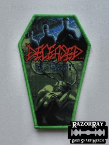 DECEASED - The Blueprints for Madness [green border] -- Woven Patch