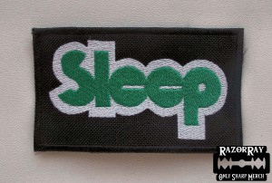 SLEEP #2 -- Embroidered Patch