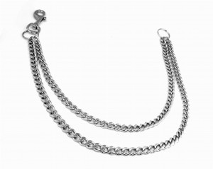 Double Metal Chain with Key Ring