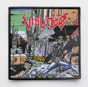 VIOLATOR - Chemical Assault [black border] -- Woven Patch