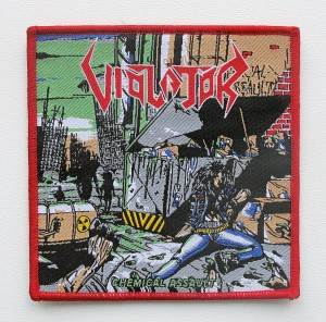 VIOLATOR - Chemical Assault [red border] -- Woven Patch