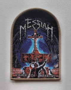 MESSIAH - Choir of Horrors [brown border] -- Woven Patch