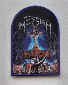 MESSIAH - Choir of Horrors [purple border] -- Woven Patch