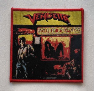 VENDETTA - Brain Damage [red border] -- Woven Patch