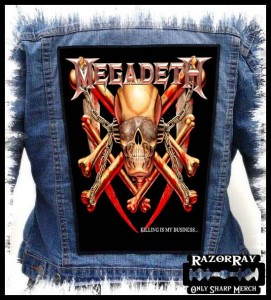 MEGADETH - Killing Is My Business... -- Backpatch #2