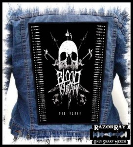 BLOOD TSUNAMI – For Faen -- Backpatch