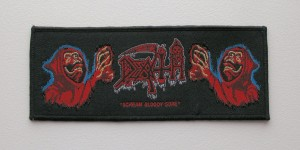 DEATH - Scream Bloody Gore [black border] -- Woven Patch