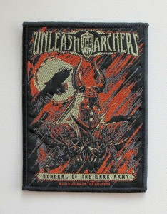 UNLEASH THE ARCHERS - General Of The Dark Army -- Woven Patch