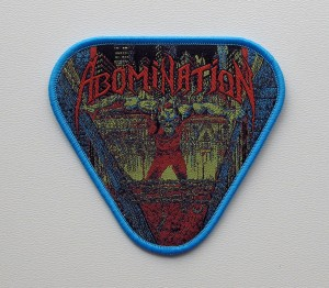 ABOMINATION - Abomination [blue border] -- Woven Patch