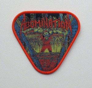 ABOMINATION - Abomination [orange border] -- Woven Patch