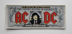 AC/DC - One Dollar  -- Woven Patch