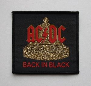 AC/DC - Back In Black -- Woven Patch