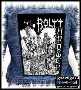 BOLT THROWER - In Battle There Is No Law!  -- Backpatch