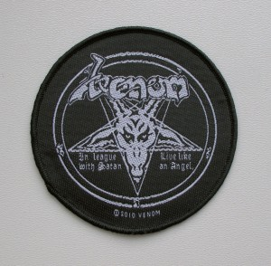 VENOM -  In League With Satan -- Woven Patch