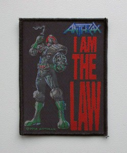 ANTHRAX - I Am The Law -- Woven Patch
