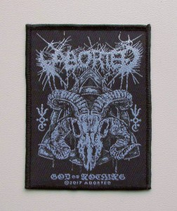 ABORTED - God Of Nothing -- Woven Patch