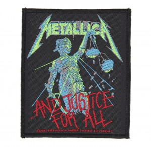 METALLICA - AND JUSTICE FOR ALL  -- Woven Patch