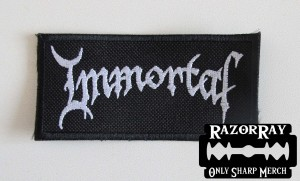 IMMORTAL [white] -- Embroidered Patch