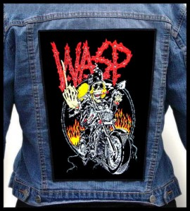 W.A.S.P. - Biker -- Backpatch