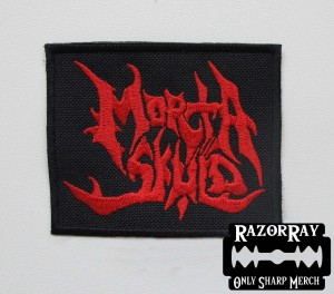 MORTA SKULD [red] -- Embroidered Patch