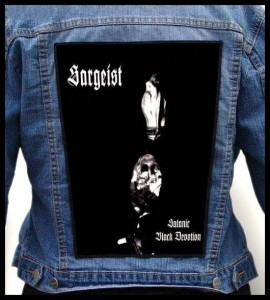 SARGEIST - Satanic Black Devotion -- Backpatch