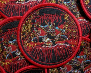 SUFFOCATION - HUMAN WASTE [red] -- Woven Patch