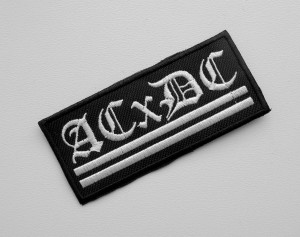 ACxDC (ANTICHRIST DEMONCORE) -- Embroidered Patch