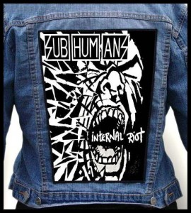 SUBHUMANS -  Internal Riot -- Backpatch