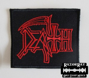 DEATH [red] -- Embroidered Patch