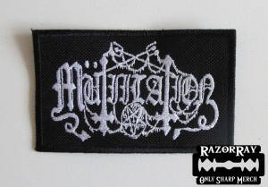 MUTIILATION [white] -- Embroidered Patch