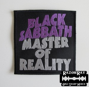 BLACK SABBATH - Master Of Reality -- Embroidered Patch