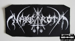 NARGAROTH [white] -- Embroidered Backpatch