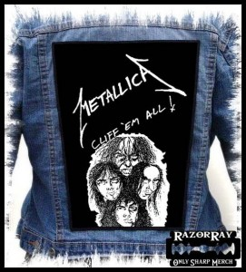 METALLICA - Cliff'em All !  -- Backpatch