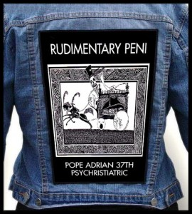 RUDIMENTARY PENI - Pope Adrian -- Backpatch